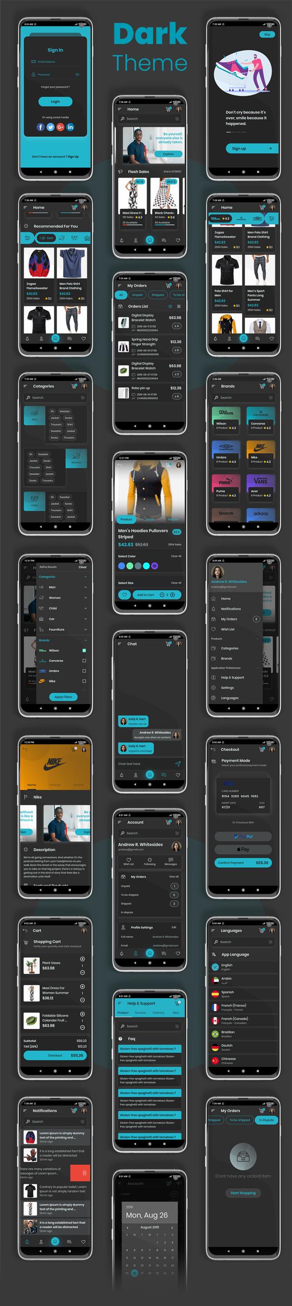 E-Commerce Flutter App UI Kit - 6